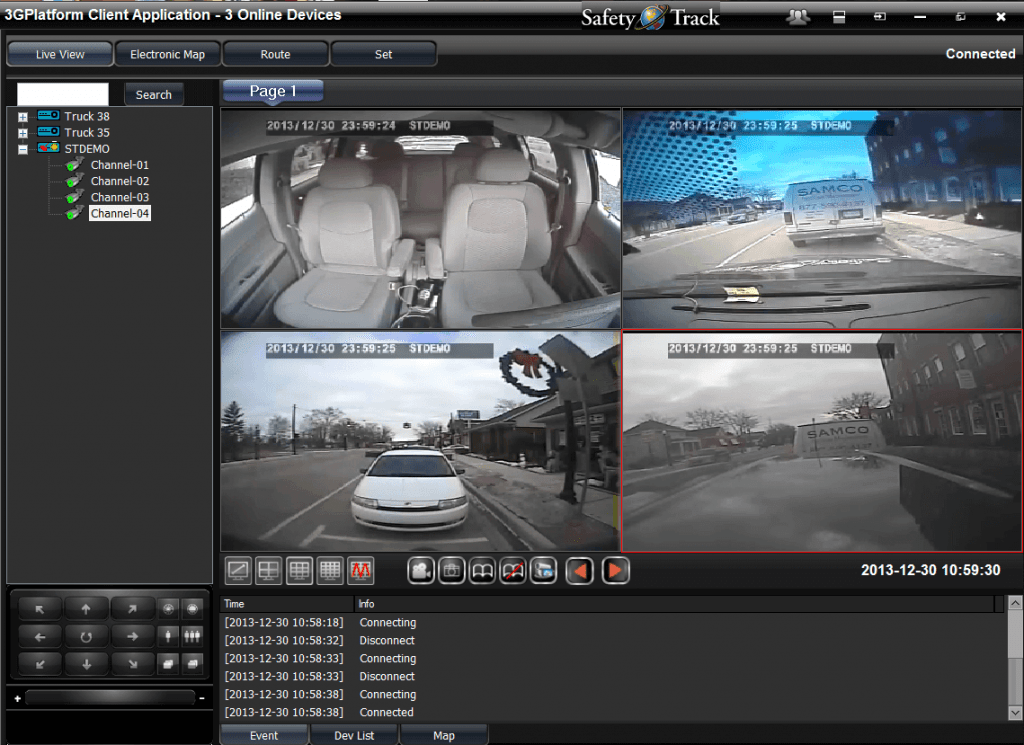 Safety Track's Award Winning 2 Channel 4G Live Dash Cam