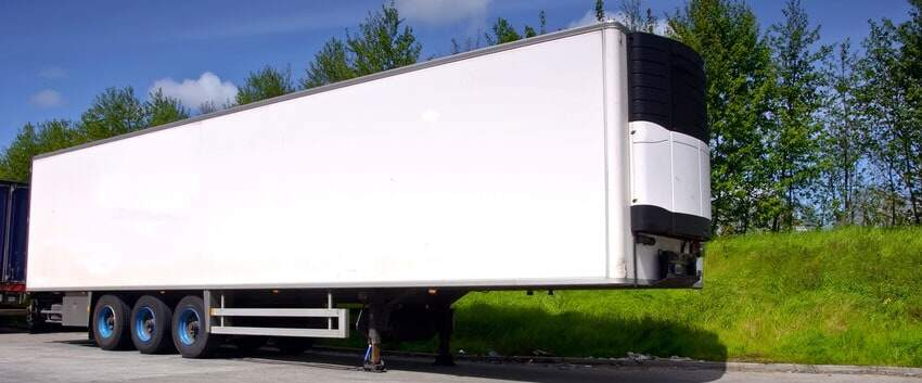 Food and beverage trailer using fleet tracking systems.